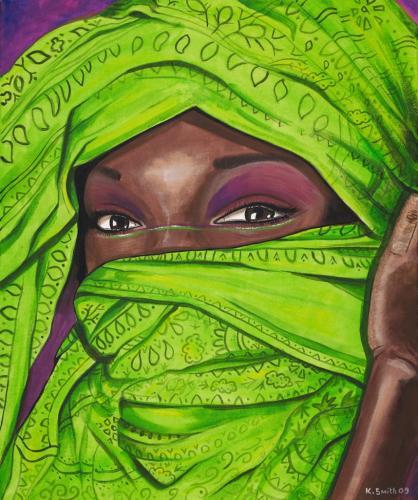 Green Tribal Girl